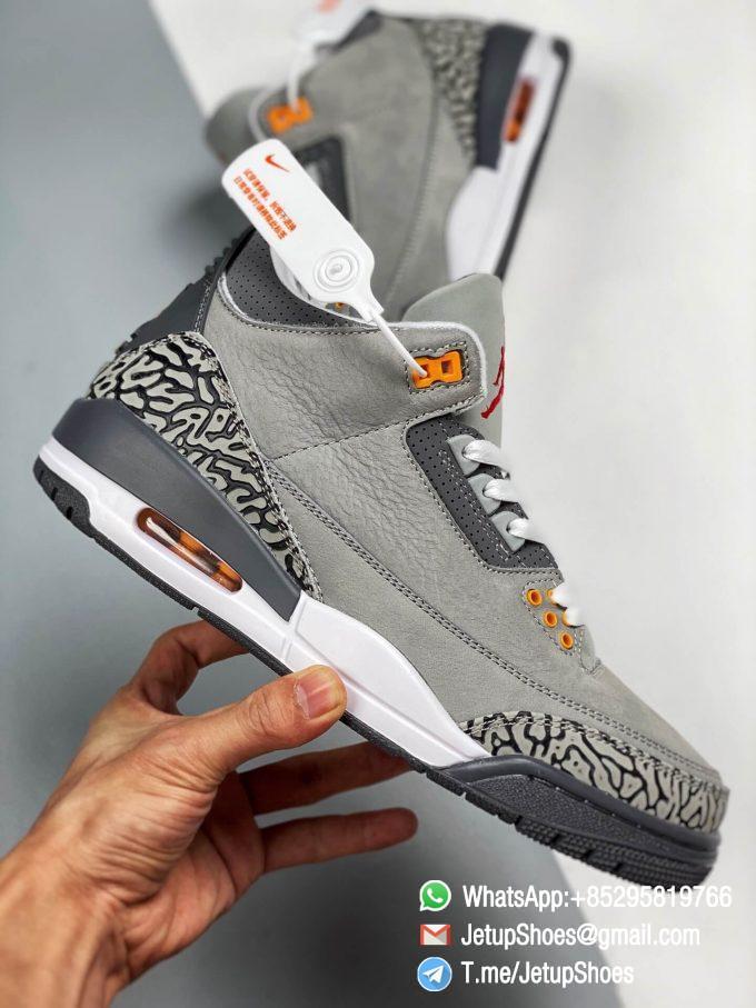 RepSneakers Air Jordan 3 Retro Cool Grey SKU CT8532 012 Grey Leather Upper Best Replica Sneakers 07