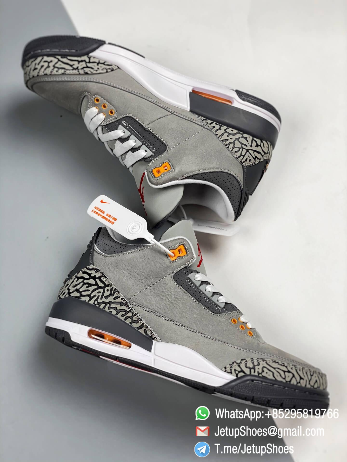 RepSneakers Air Jordan 3 Retro Cool Grey SKU CT8532 012 Grey Leather Upper Best Replica Sneakers 08