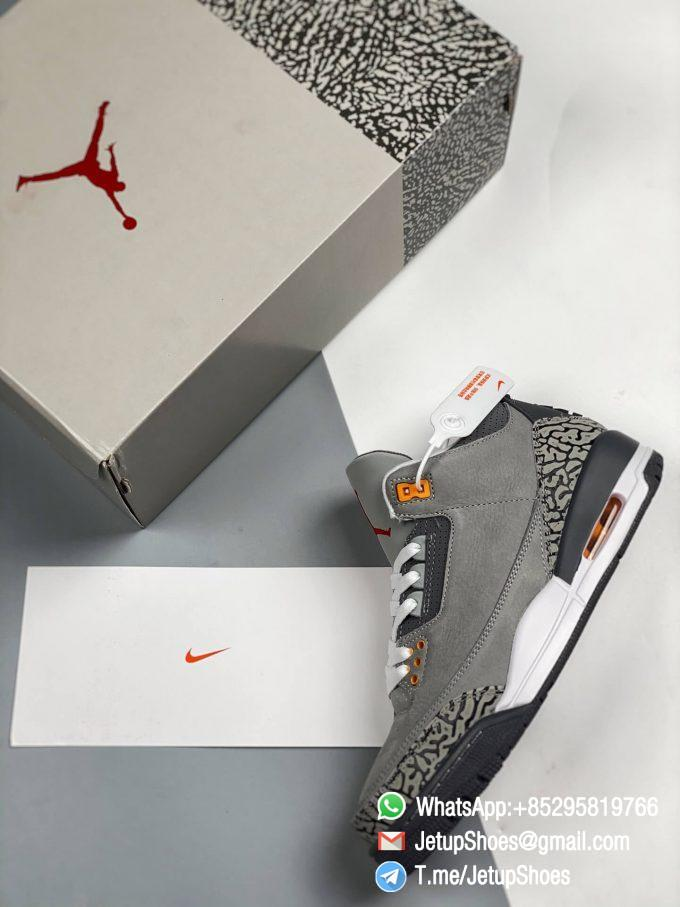 RepSneakers Air Jordan 3 Retro Cool Grey SKU CT8532 012 Grey Leather Upper Best Replica Sneakers 09