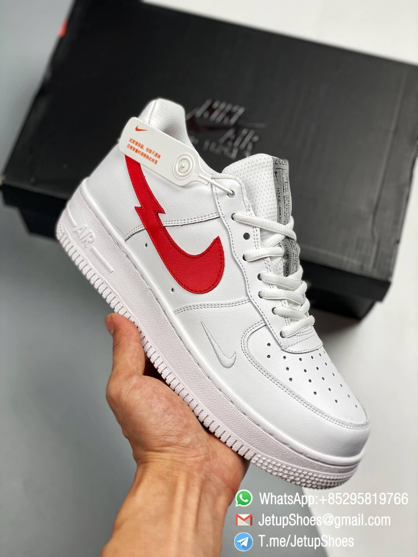 RepSneakers Nike Air Force 1 Low Euro Tour 2020 White & University Red-Midnight Navy SKU CW7577-100 Best Clone SNKRS