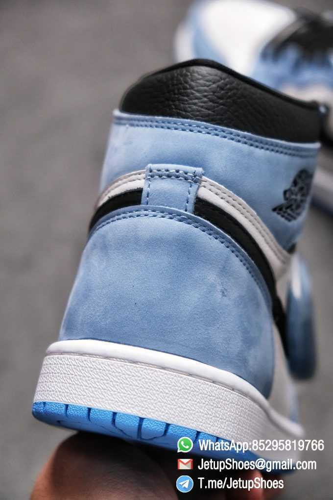 Replica Snkrs Air Jordan 1 Retro High OG University Blue Leather White Upper Blue Overlays Black Signature Swoosh SKU 555088 134 07