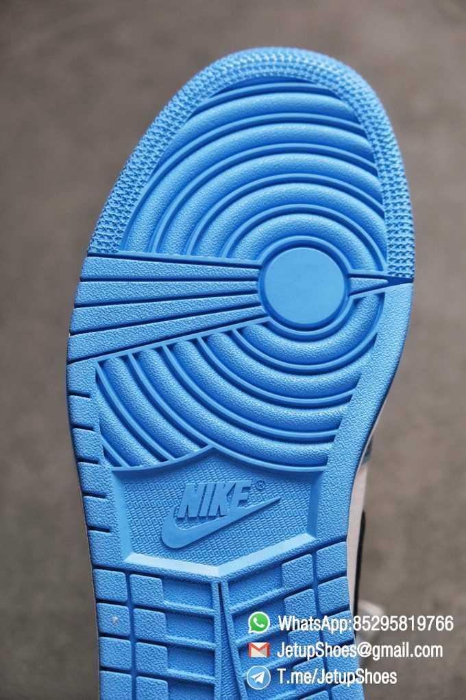 Replica Snkrs Air Jordan 1 Retro High OG University Blue Leather White Upper Blue Overlays Black Signature Swoosh SKU 555088 134 08