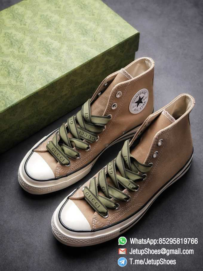 Womens Converse 1970S Special Collaboration Sneaker High Top Trainer Sneakers Vintage Inspired Green Shoelace Black Upper 2021 Spring 00 1