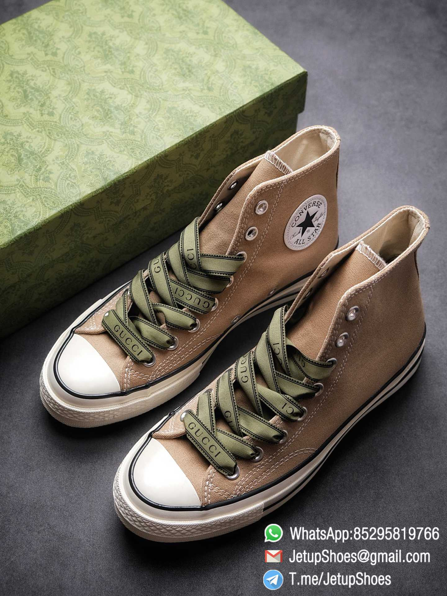 Womens Converse 1970S Special Collaboration Sneaker High Top Trainer Sneakers Vintage Inspired Green Shoelace Black Upper 2021 Spring 00