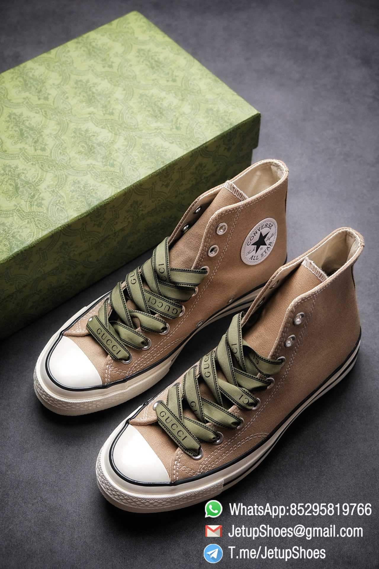 Womens Converse 1970S Special Collaboration Sneaker High Top Trainer Sneakers Vintage Inspired Green Shoelace Black Upper 2021 Spring 01