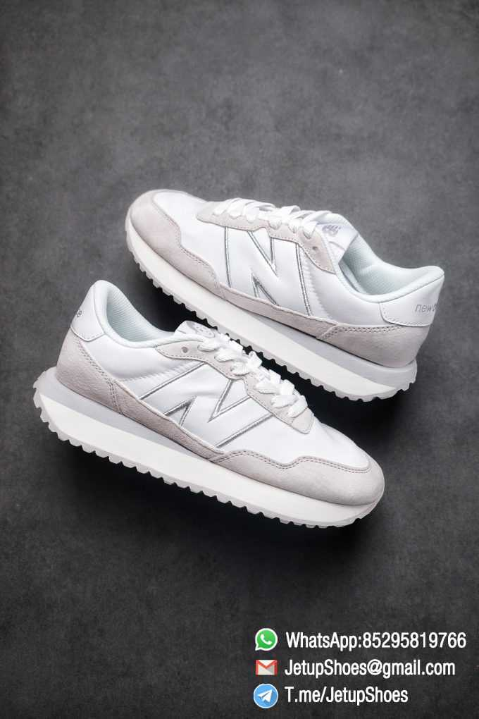 Best Replica 2021 New Balance 237 White Light Grey SKU MS237NW1 High Quality Running Sneakers 01