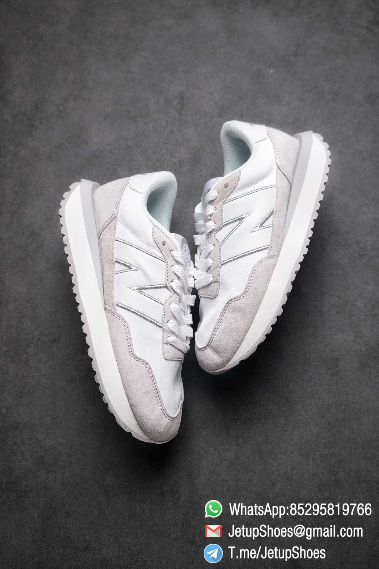 Best Replica 2021 New Balance 237 White Light Grey SKU MS237NW1 High Quality Running Sneakers 03