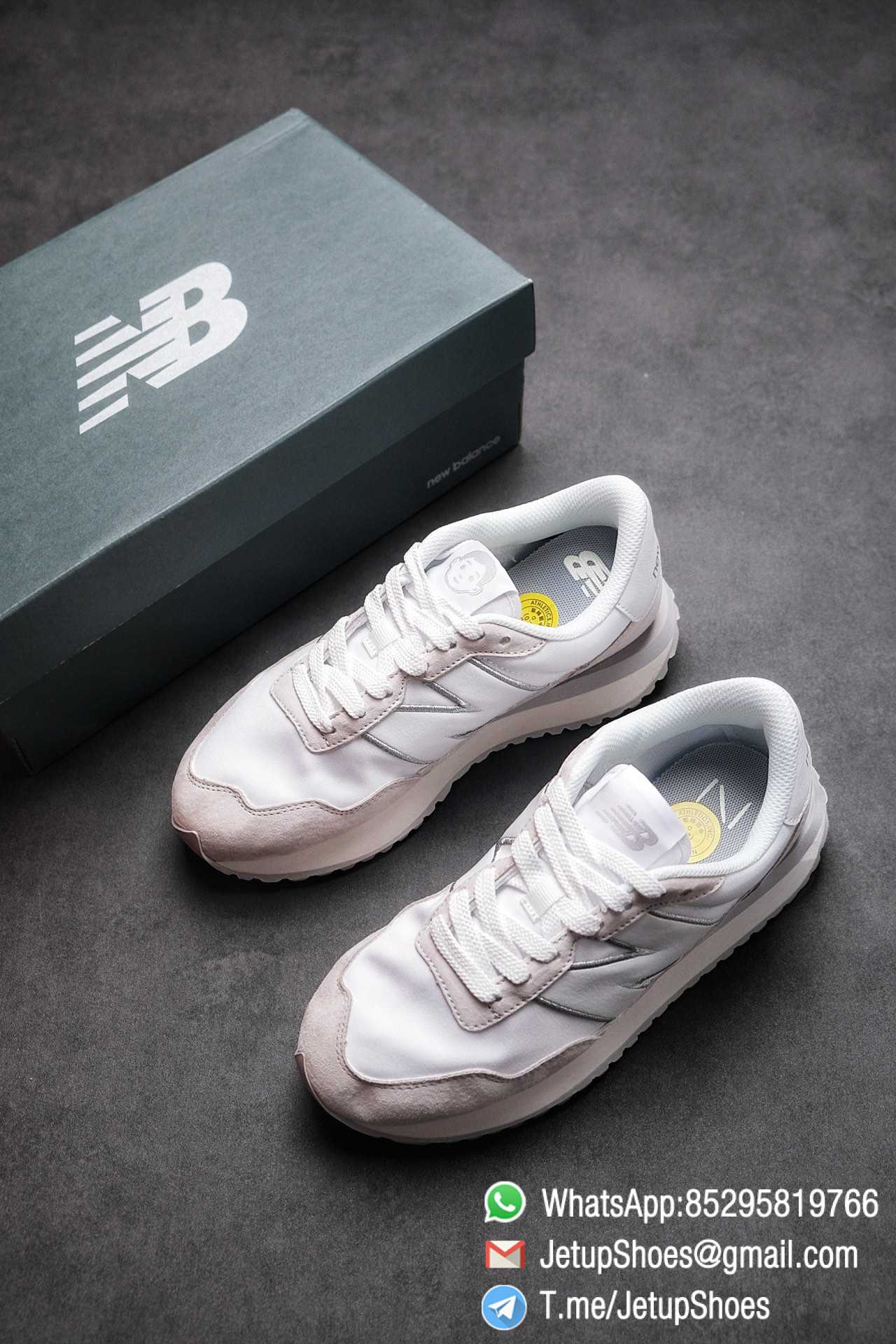 Best Replica 2021 New Balance 237 White Light Grey SKU MS237NW1 High Quality Running Sneakers 04