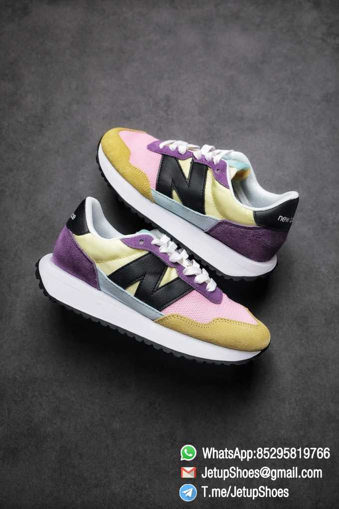 Best Replica 2021 New Balance 237 Yellow Purple Pink SKU MS237LB3 High Quality Running Shoes 01
