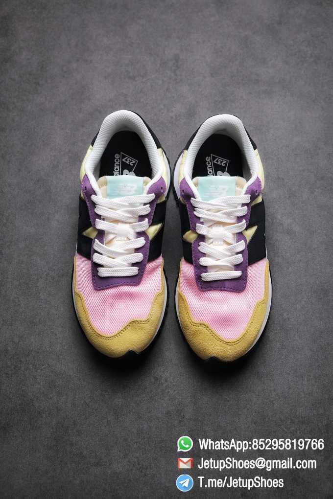 Best Replica 2021 New Balance 237 Yellow Purple Pink SKU MS237LB3 High Quality Running Shoes 02