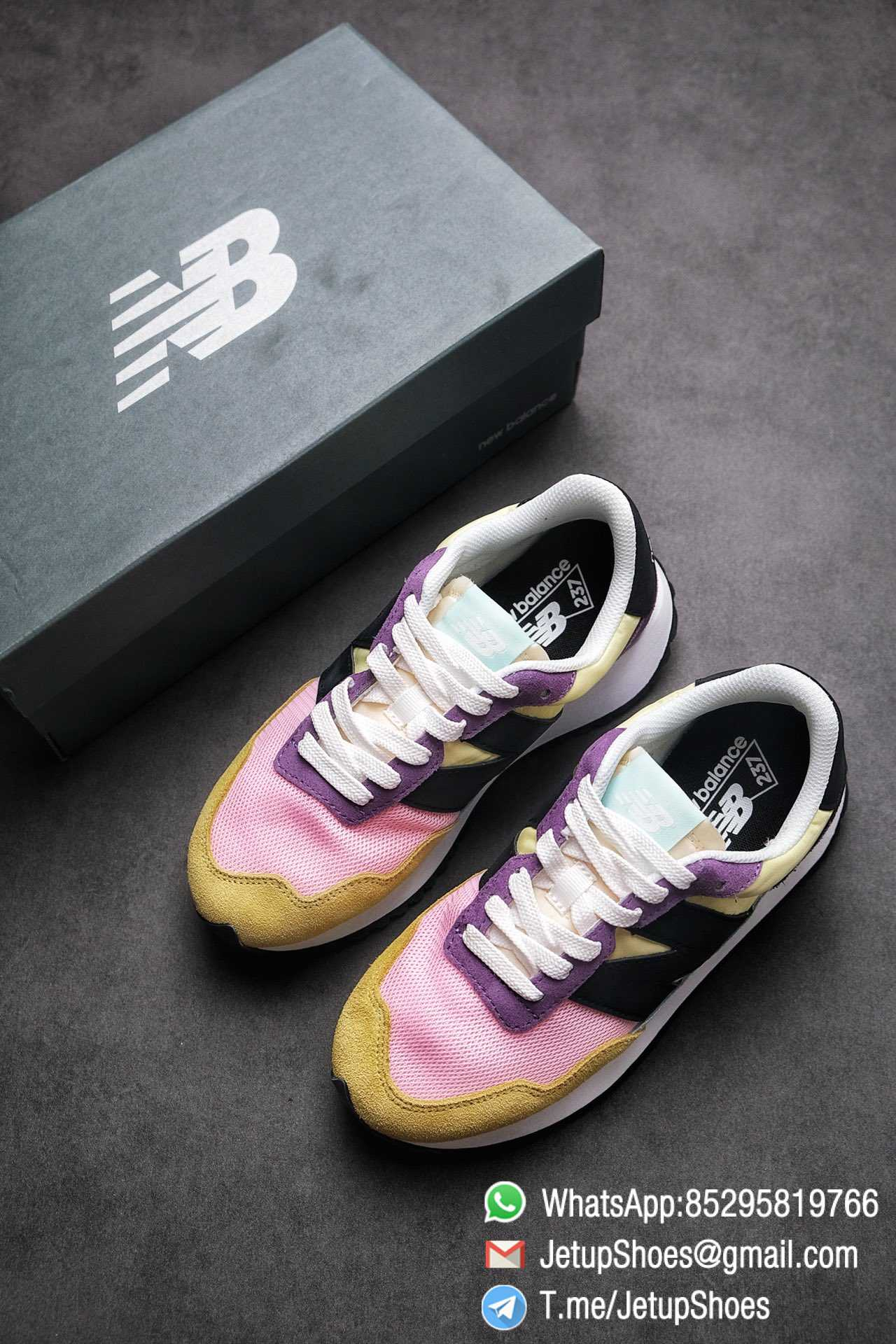 Best Replica 2021 New Balance 237 Yellow Purple Pink SKU MS237LB3 High Quality Running Shoes 04