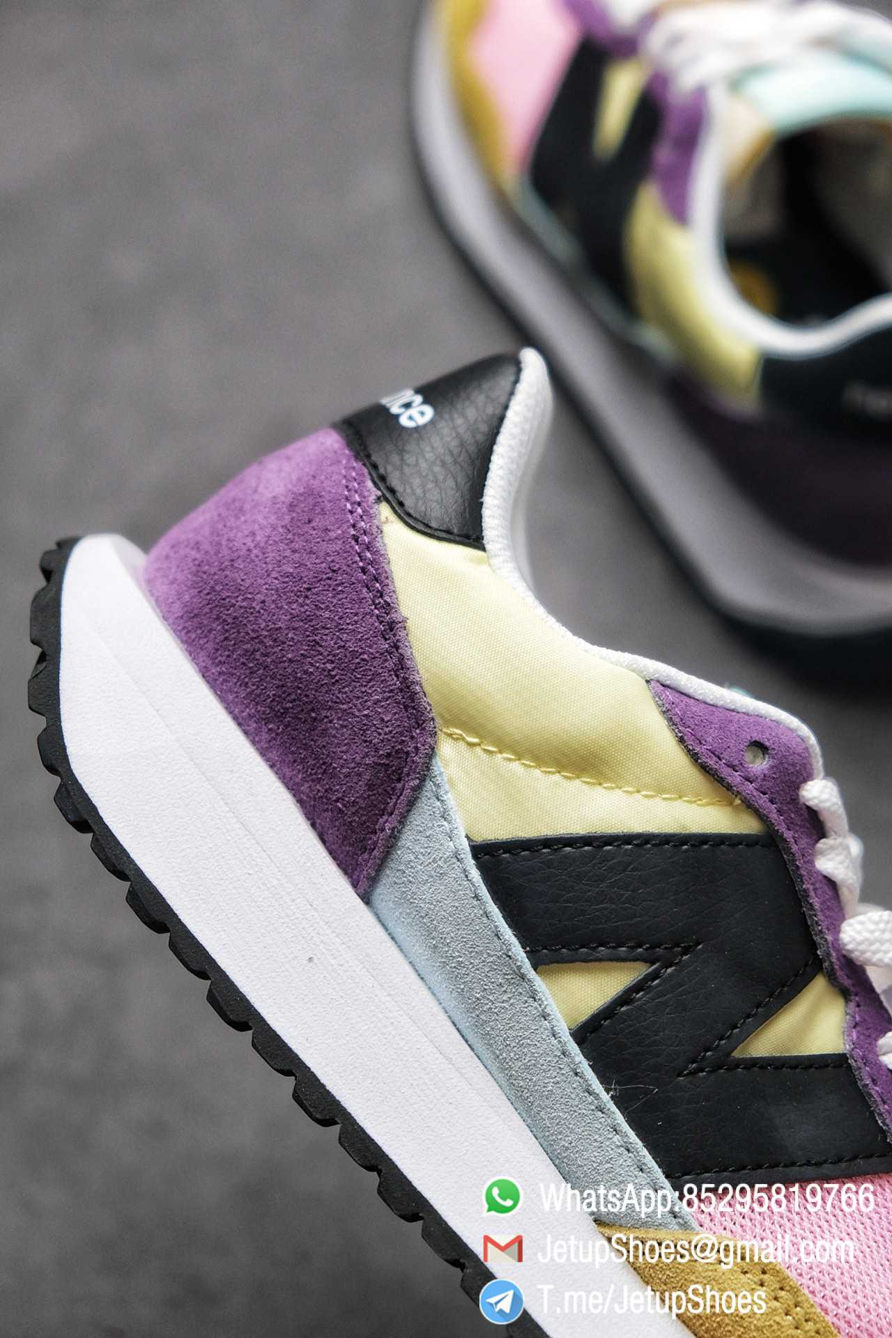 Best Replica 2021 New Balance 237 Yellow Purple Pink SKU MS237LB3 High Quality Running Shoes 05