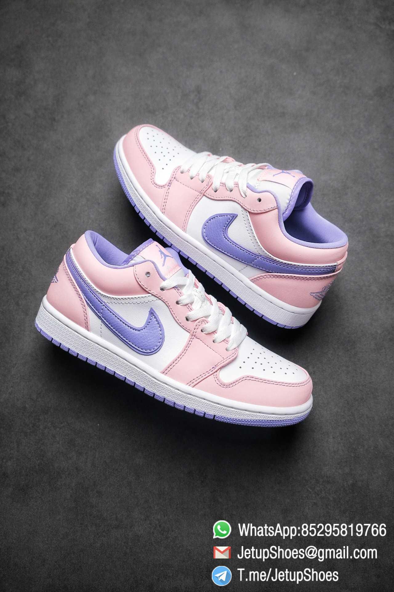 Best Replica Air Jordan 1 Low SE Arctic Punch Crisp White Upper Soft Pink Overlays Top Quality Supplier 01