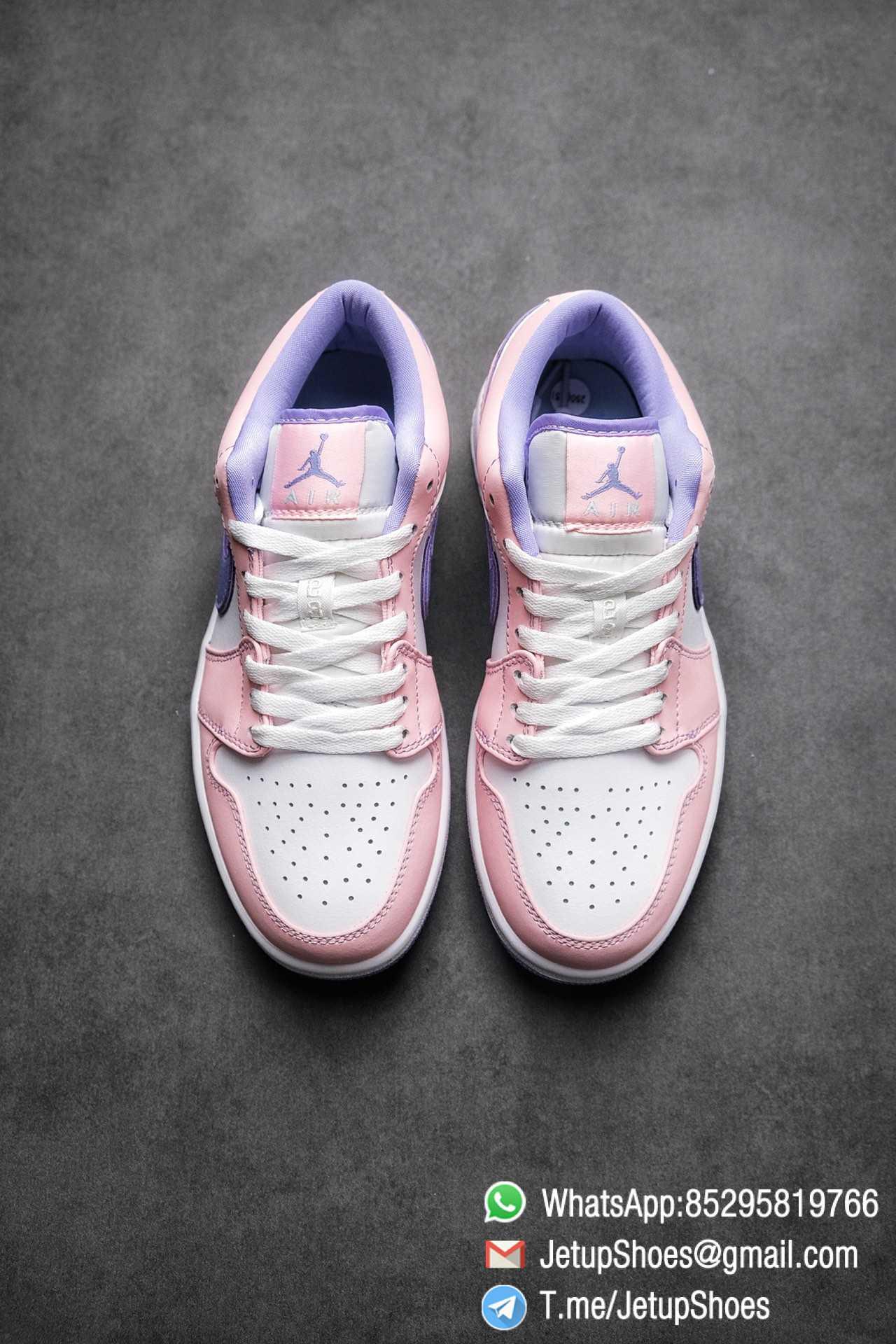 Best Replica Air Jordan 1 Low SE Arctic Punch Crisp White Upper Soft Pink Overlays Top Quality Supplier 02