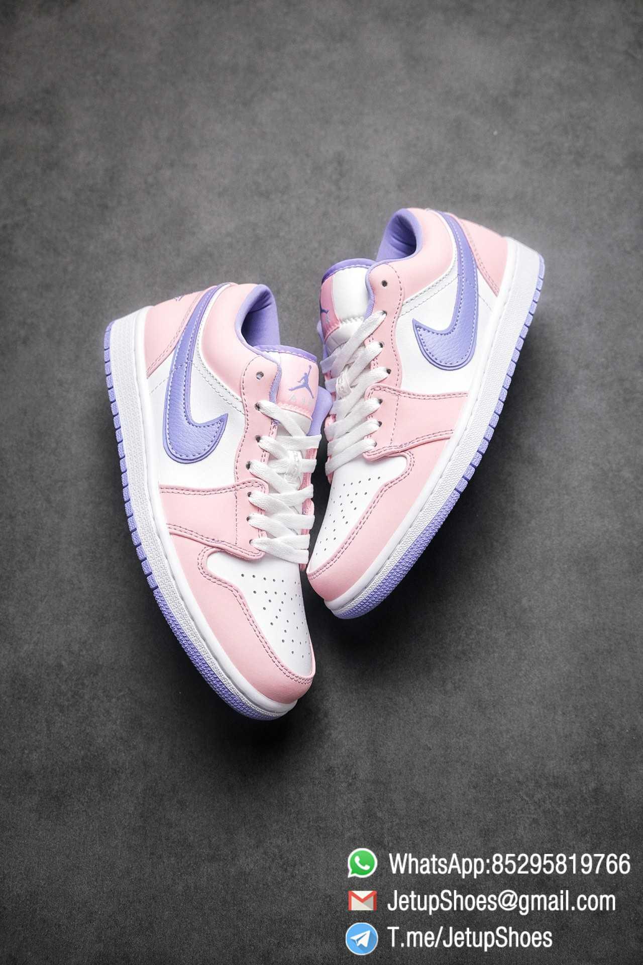 Best Replica Air Jordan 1 Low SE Arctic Punch Crisp White Upper Soft Pink Overlays Top Quality Supplier 03