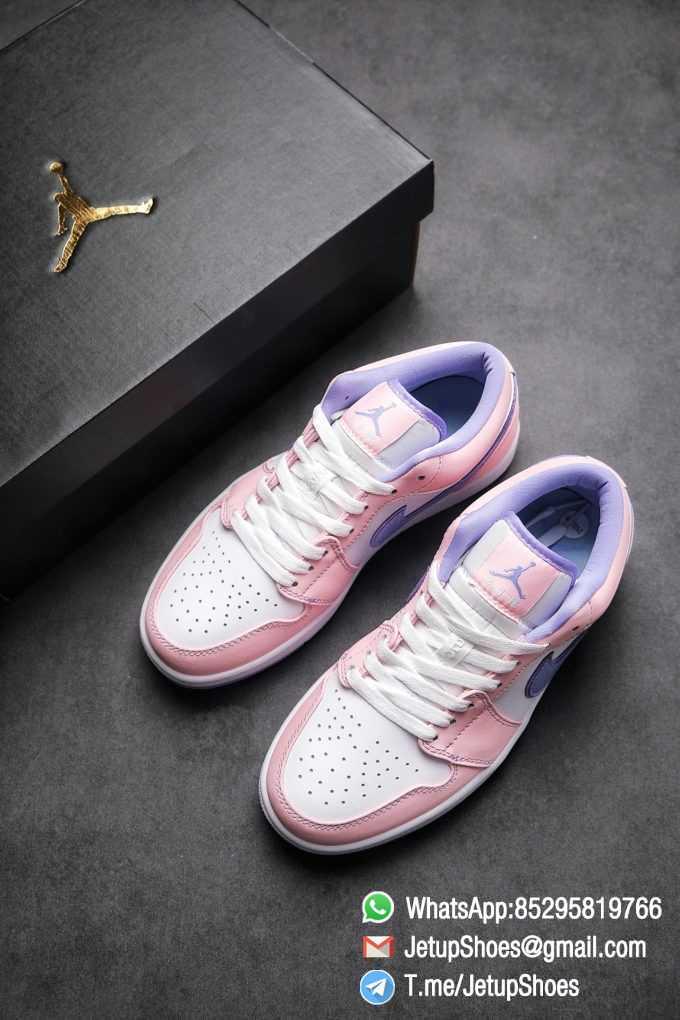 Best Replica Air Jordan 1 Low SE Arctic Punch Crisp White Upper Soft Pink Overlays Top Quality Supplier 04