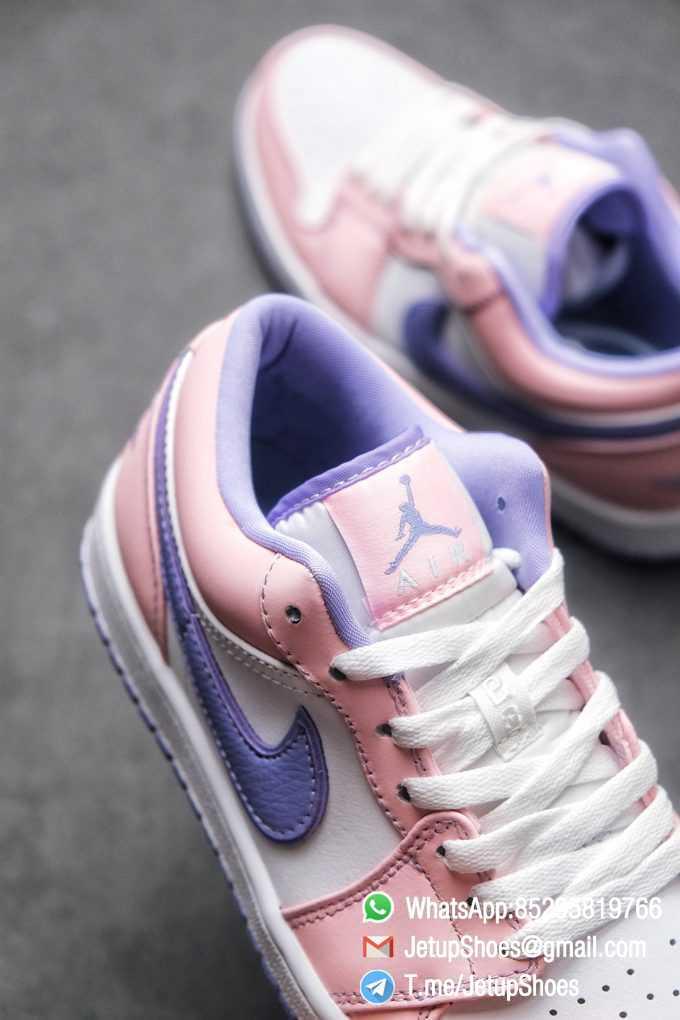 Best Replica Air Jordan 1 Low SE Arctic Punch Crisp White Upper Soft Pink Overlays Top Quality Supplier 05