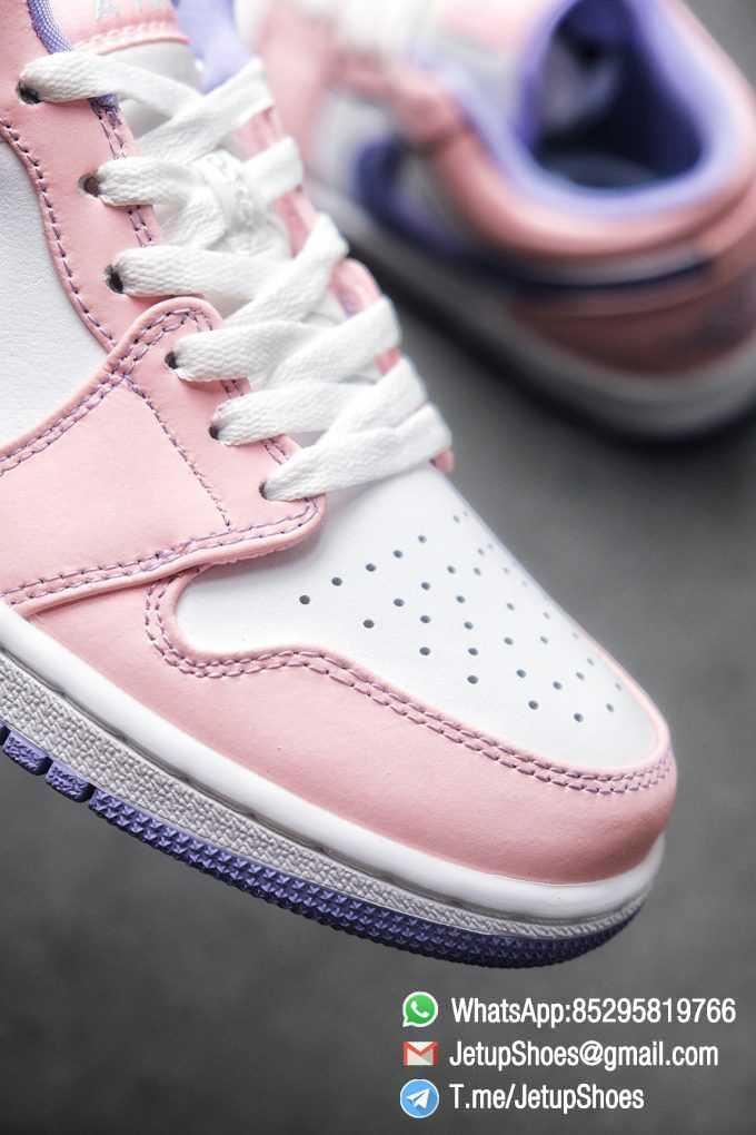 Best Replica Air Jordan 1 Low SE Arctic Punch Crisp White Upper Soft Pink Overlays Top Quality Supplier 06