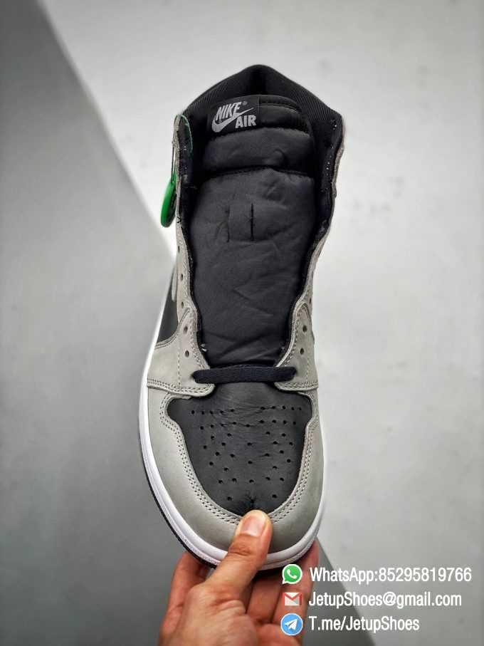 Best Replica Air Jordan 1 Retro High OG Shadow 2.0 Black Leather Upper Grey Suede Overlays RepSnkrs 02