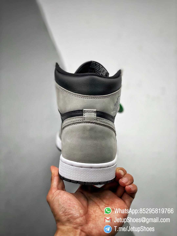 Best Replica Air Jordan 1 Retro High OG Shadow 2.0 Black Leather Upper Grey Suede Overlays RepSnkrs 07