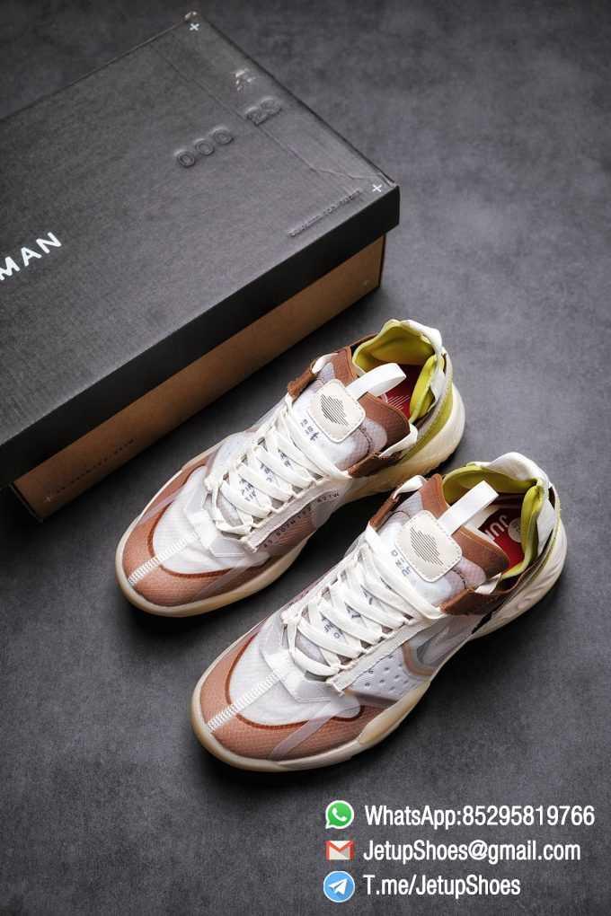 Best Replica Air Jordan Delta SP Sail Brown Light Green Running Shoes CW0783 104 Top Quality Sneakers Store 04