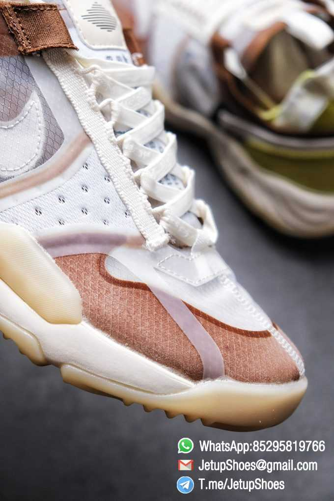 Best Replica Air Jordan Delta SP Sail Brown Light Green Running Shoes CW0783 104 Top Quality Sneakers Store 06