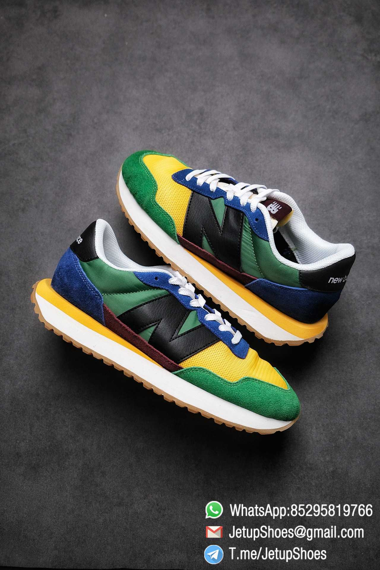 Best Replica New Balance 237 Green Blue Yellow Multi Color SKU MS237LB1 High Quality Fake Running Shoes 01