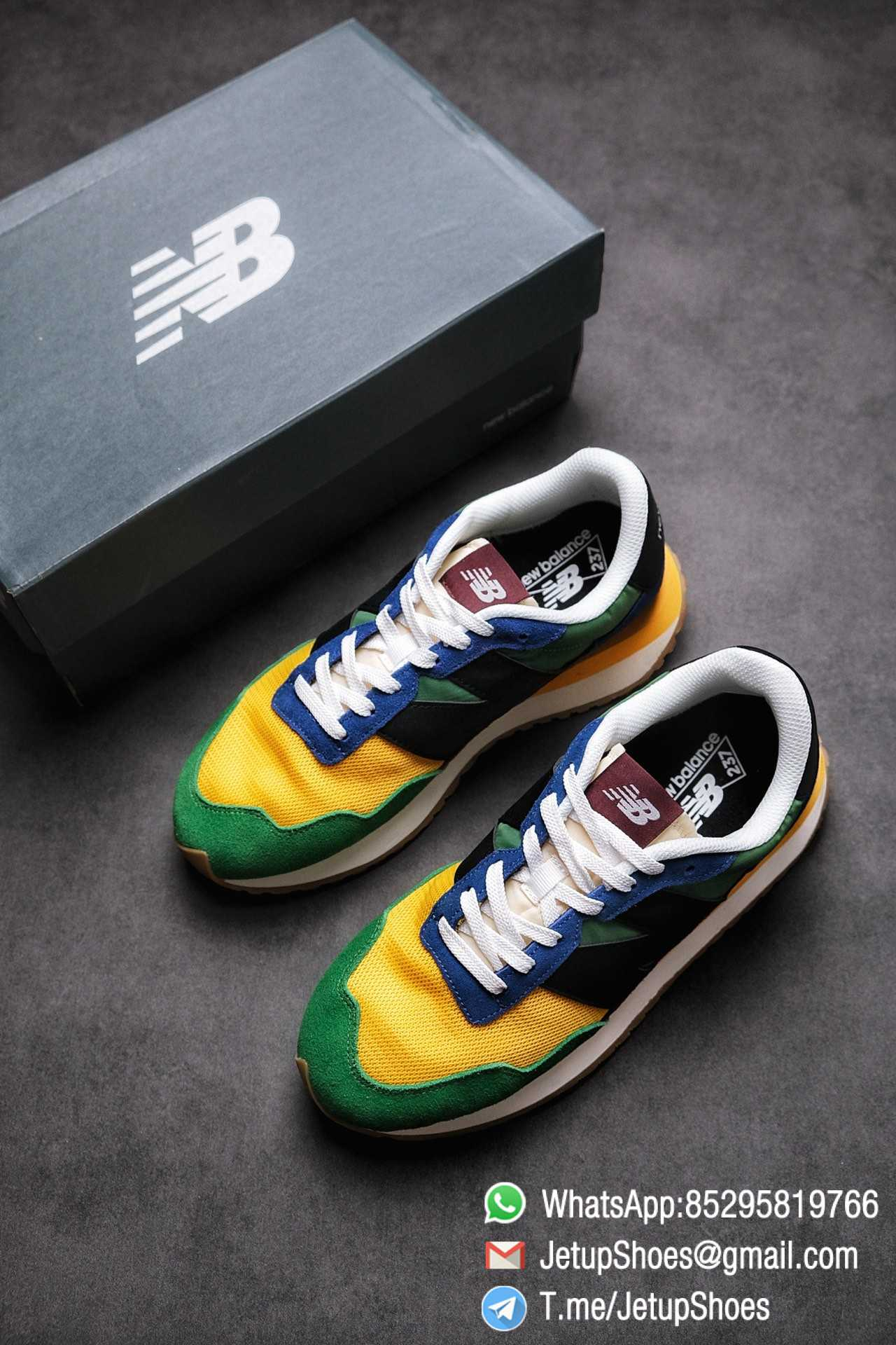 Best Replica New Balance 237 Green Blue Yellow Multi Color SKU MS237LB1 High Quality Fake Running Shoes 04
