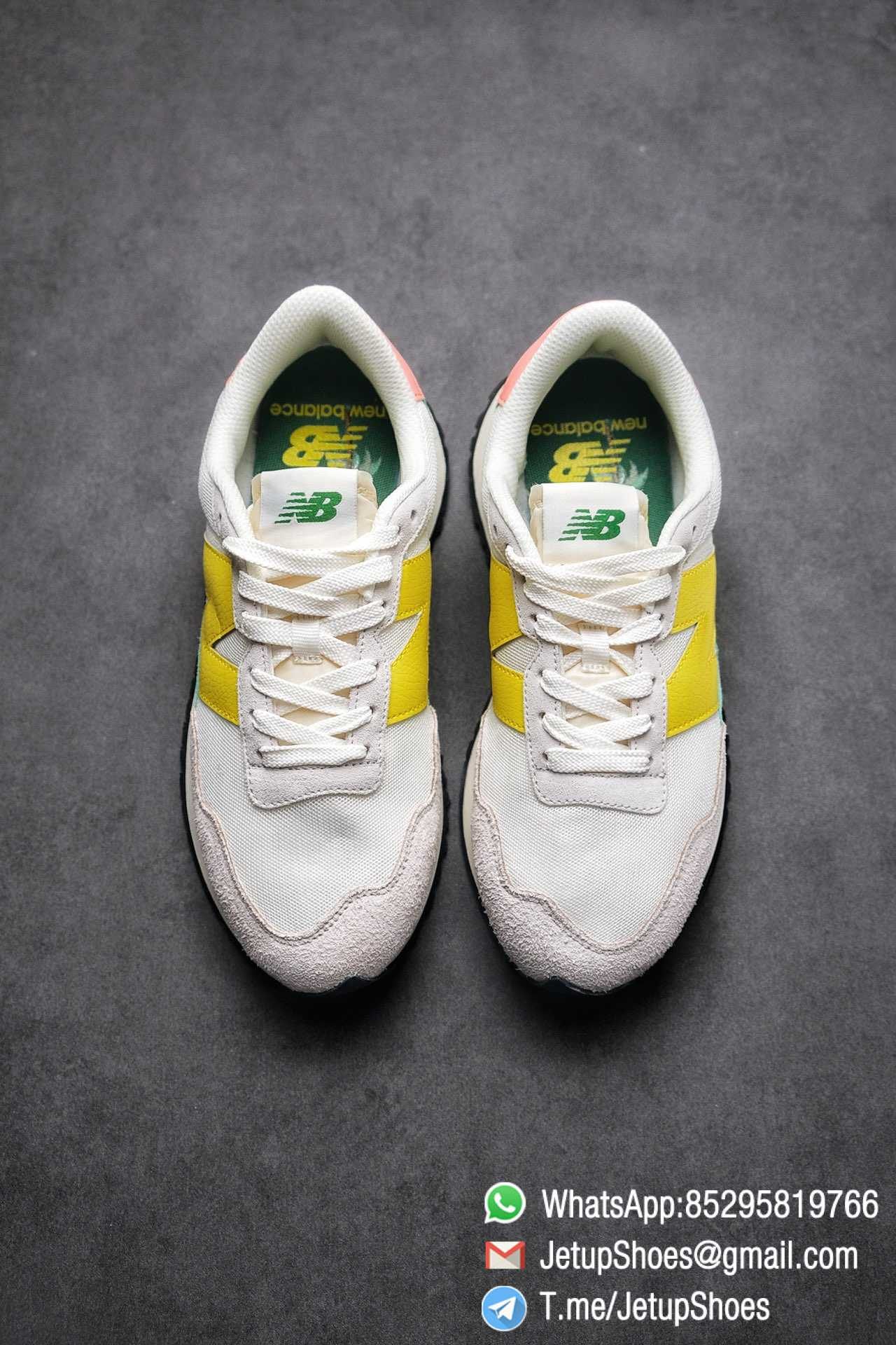 Best Replica New Balance 237 Light Grey Yellow Green Pink Multi Color SKU MS237AS1 High Quality Running Shoes 02