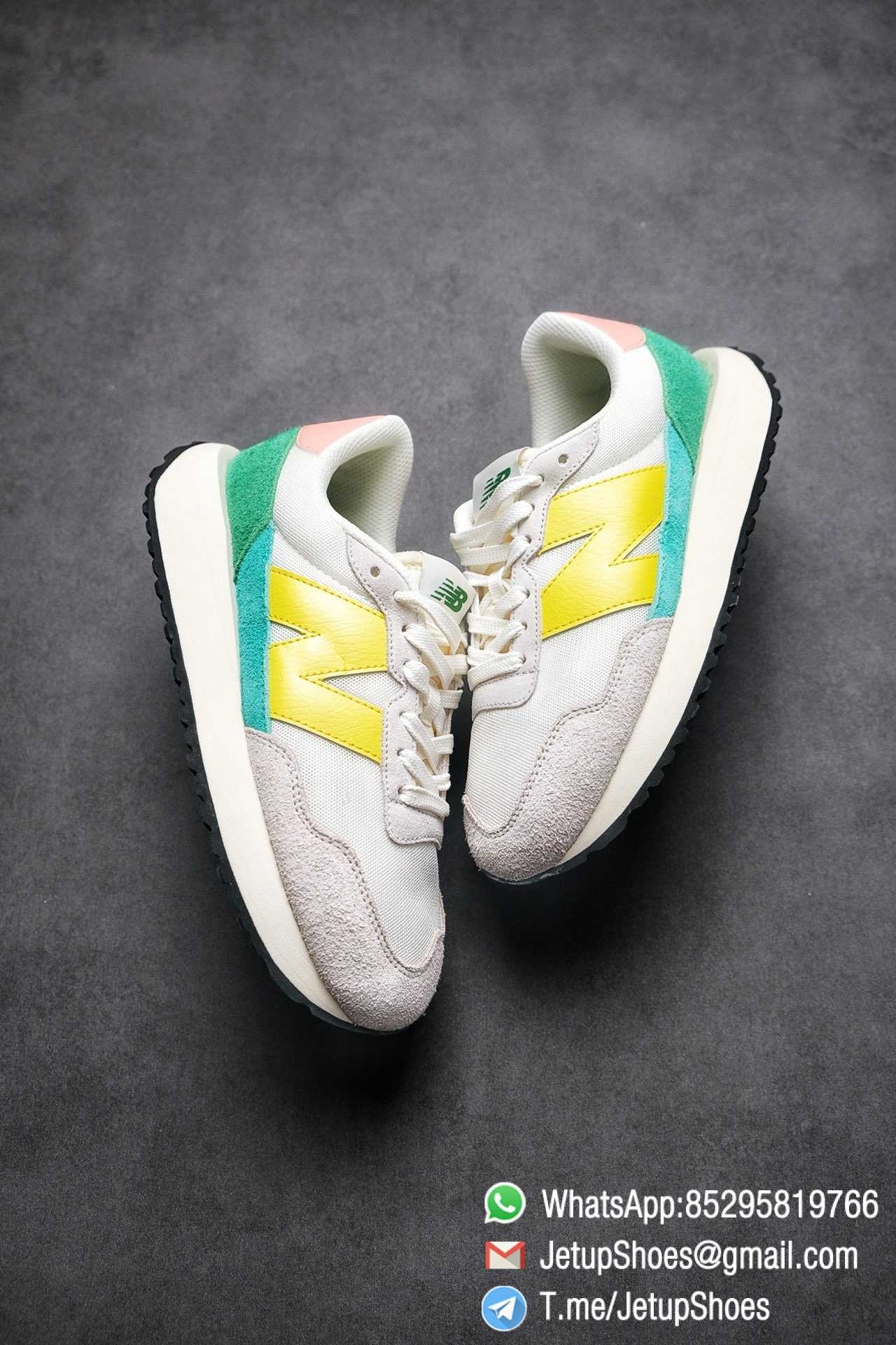 Best Replica New Balance 237 Light Grey Yellow Green Pink Multi Color SKU MS237AS1 High Quality Running Shoes 03