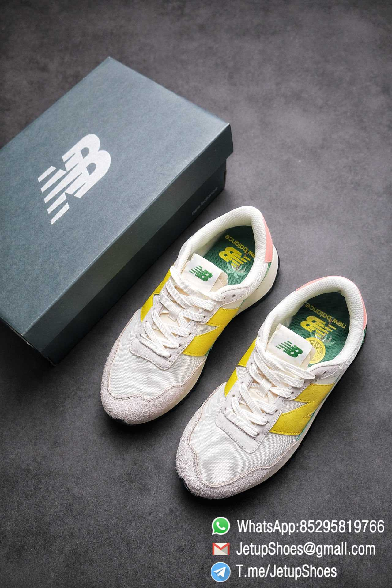 Best Replica New Balance 237 Light Grey Yellow Green Pink Multi Color SKU MS237AS1 High Quality Running Shoes 04