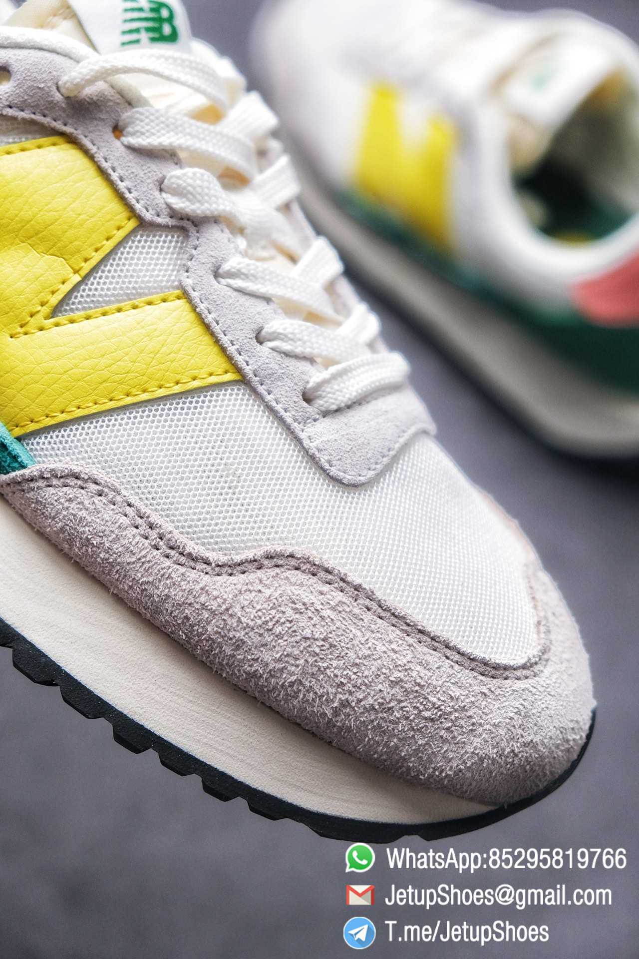 Best Replica New Balance 237 Light Grey Yellow Green Pink Multi Color SKU MS237AS1 High Quality Running Shoes 05