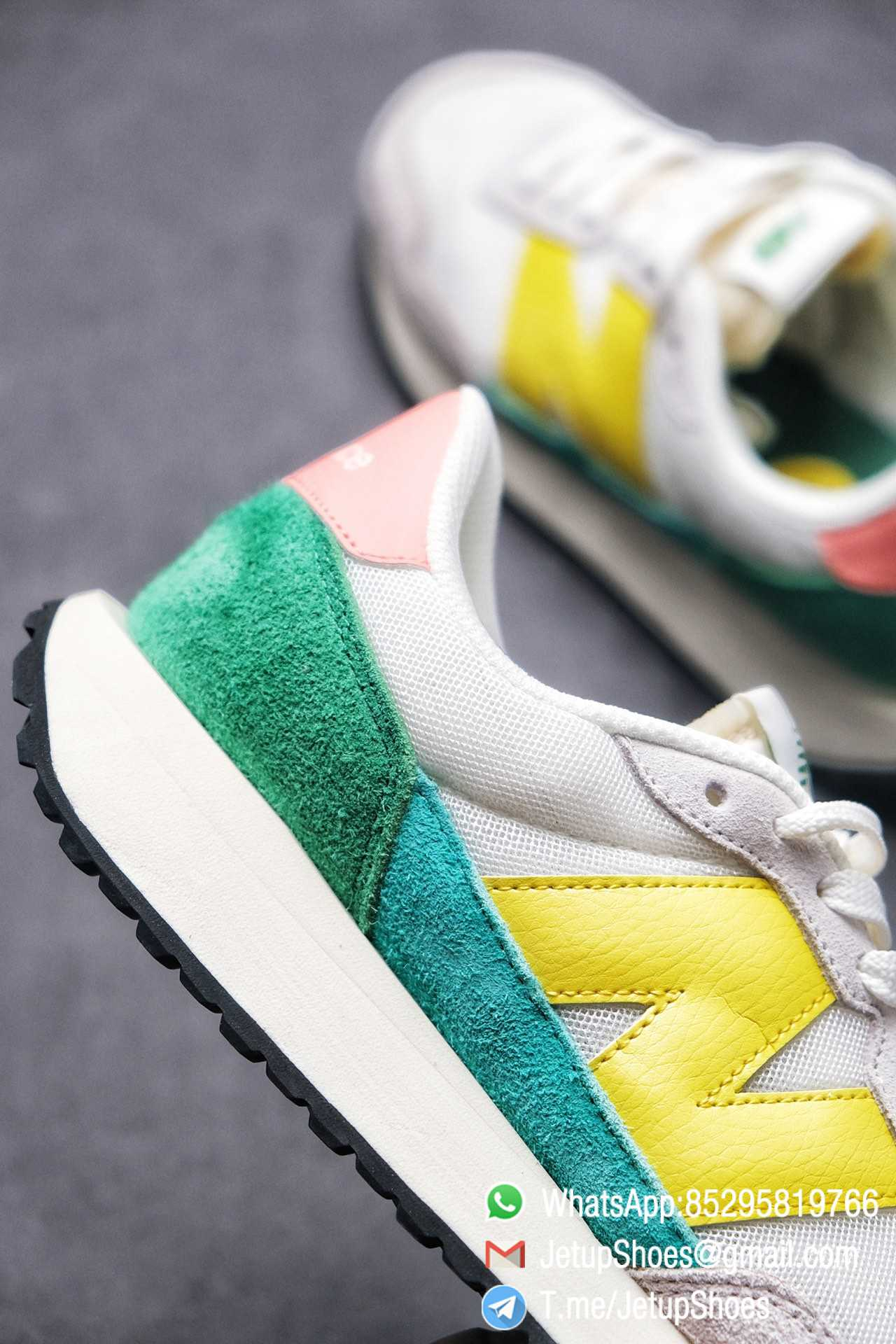 Best Replica New Balance 237 Light Grey Yellow Green Pink Multi Color SKU MS237AS1 High Quality Running Shoes 06