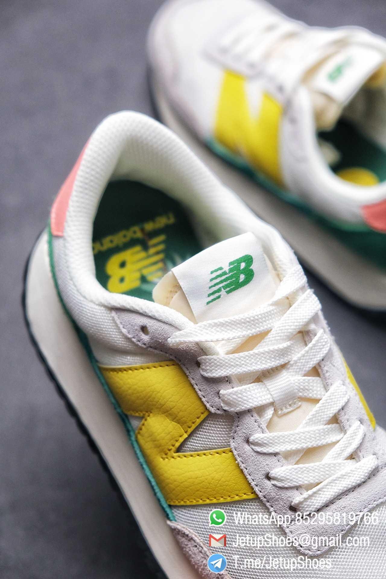 Best Replica New Balance 237 Light Grey Yellow Green Pink Multi Color SKU MS237AS1 High Quality Running Shoes 07