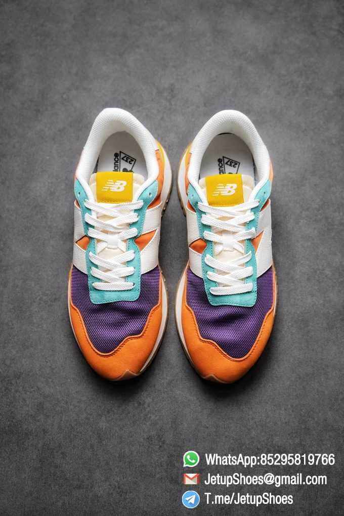 Best Replica New Balance 237 Yellow Blue Orange Suede Purple Mesh Stitching SKU MS237LB2 High Quality Fake Multi Color Running Shoes 02