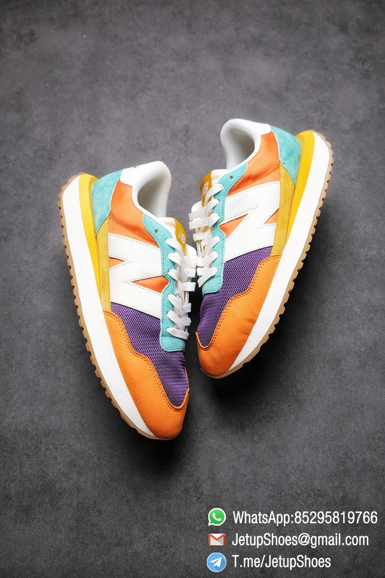 Best Replica New Balance 237 Yellow Blue Orange Suede Purple Mesh Stitching SKU MS237LB2 High Quality Fake Multi Color Running Shoes 03
