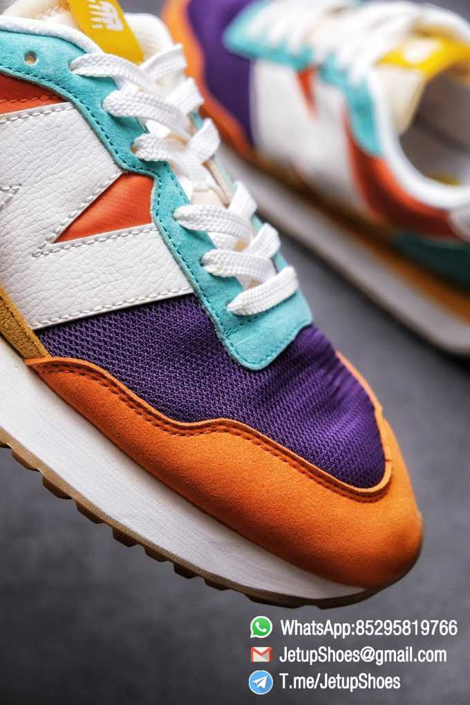 Best Replica New Balance 237 Yellow Blue Orange Suede Purple Mesh Stitching SKU MS237LB2 High Quality Fake Multi Color Running Shoes 05