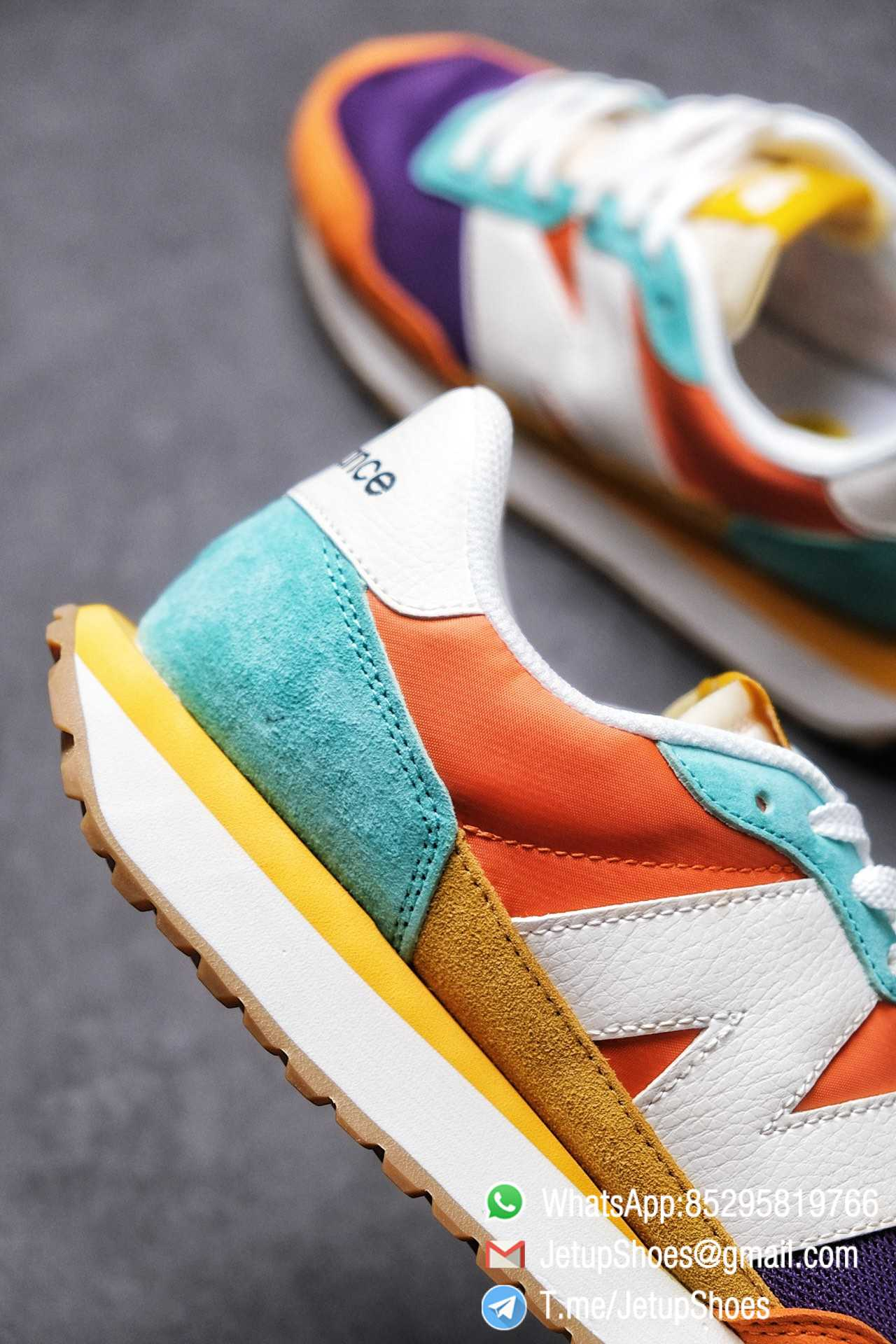 Best Replica New Balance 237 Yellow Blue Orange Suede Purple Mesh Stitching SKU MS237LB2 High Quality Fake Multi Color Running Shoes 06
