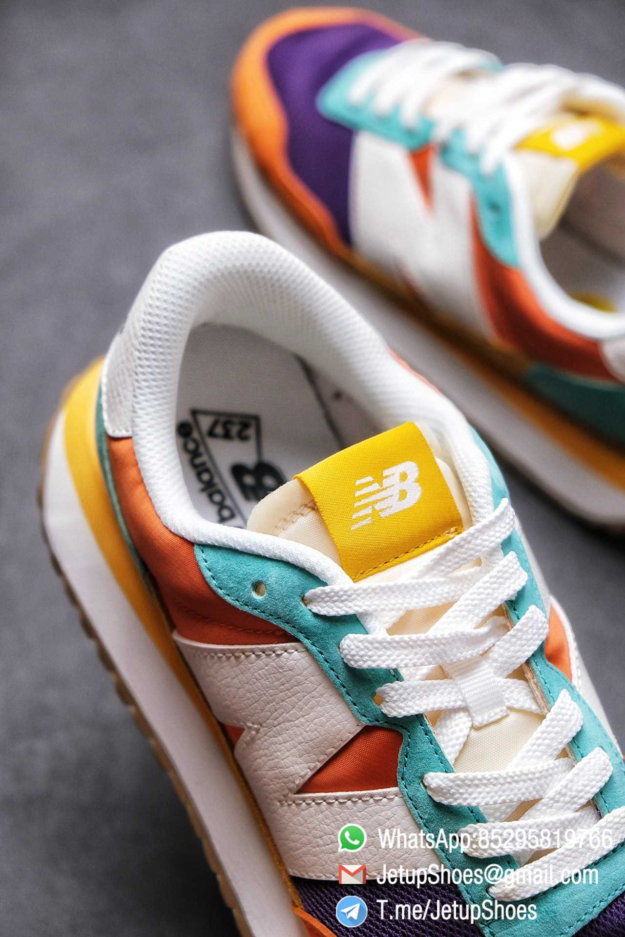 Best Replica New Balance 237 Yellow Blue Orange Suede Purple Mesh Stitching SKU MS237LB2 High Quality Fake Multi Color Running Shoes 07