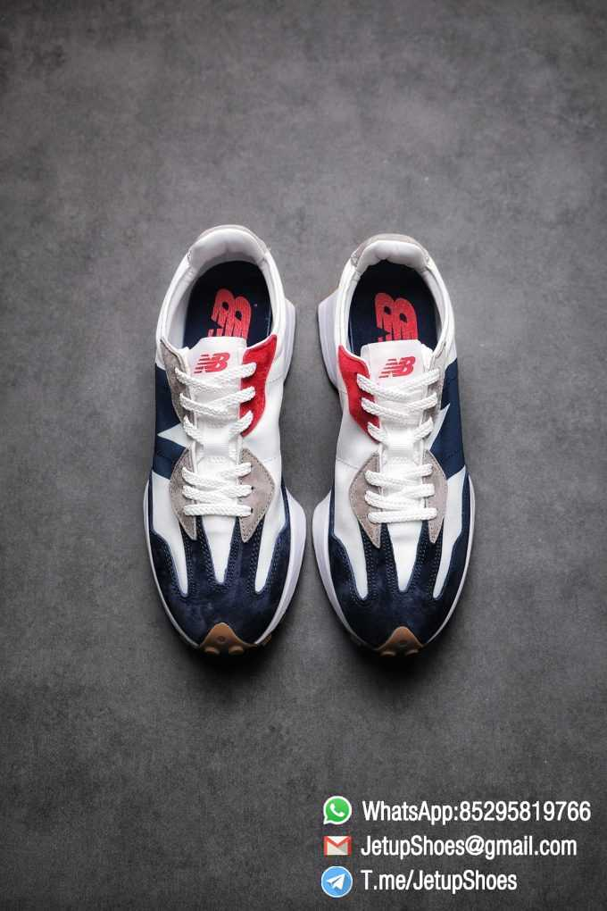 Best Replica New Balance 327 Navy White Gum Running Shoes SKU MS327WR Top Quality Snkrs 02