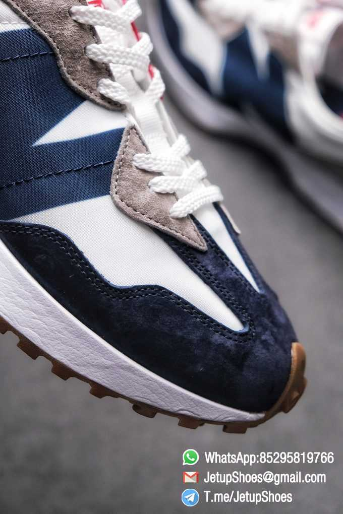 Best Replica New Balance 327 Navy White Gum Running Shoes SKU MS327WR Top Quality Snkrs 05