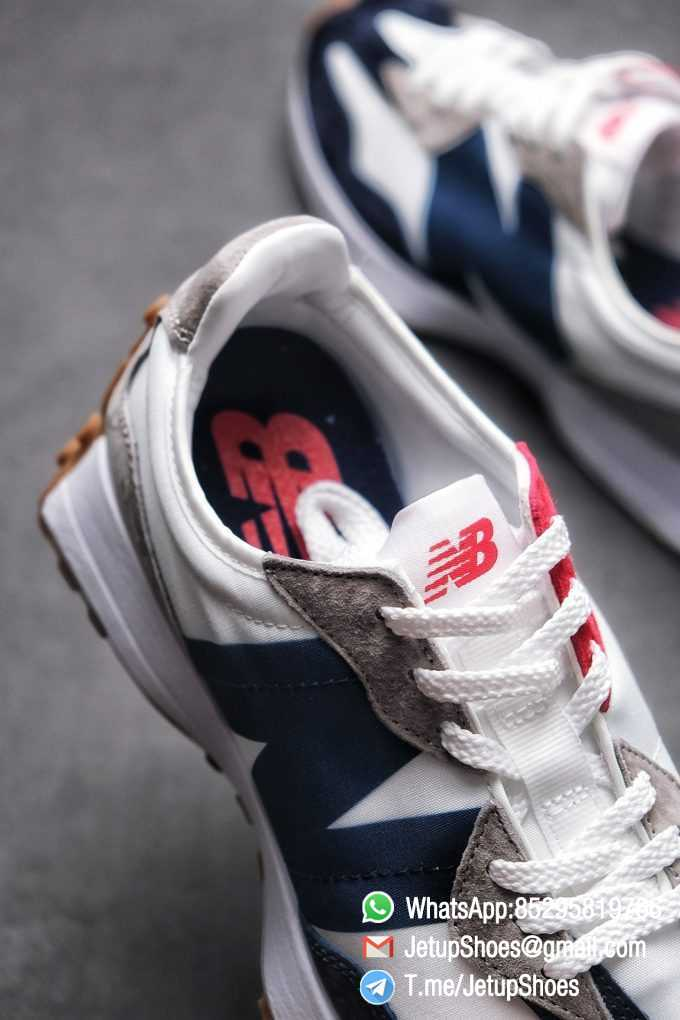 Best Replica New Balance 327 Navy White Gum Running Shoes SKU MS327WR Top Quality Snkrs 07