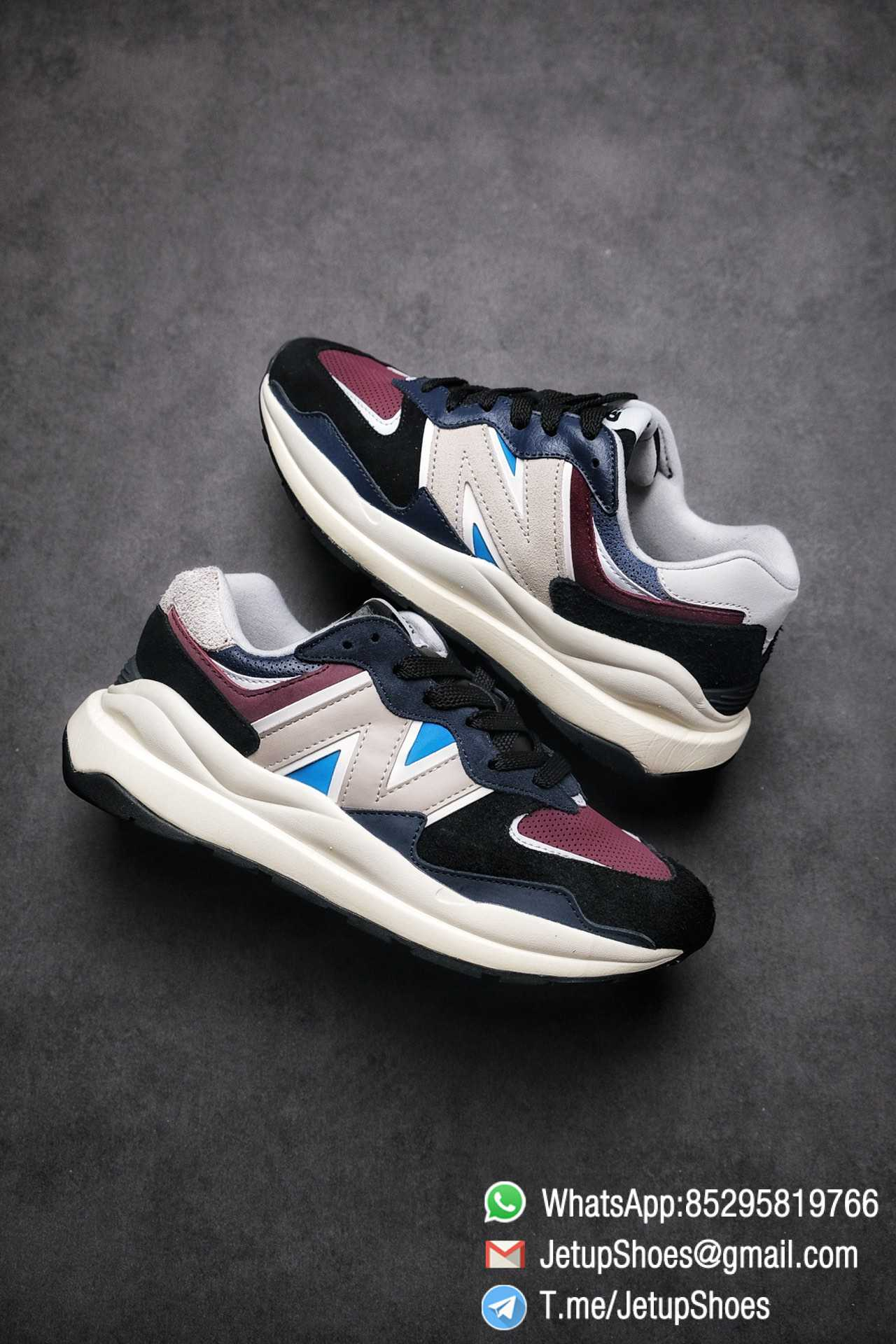 Best Replica New Balance 57 40 Navy Burgundy SKU M5740TB Navy And Burgundy Panels Appear Top Quality 01