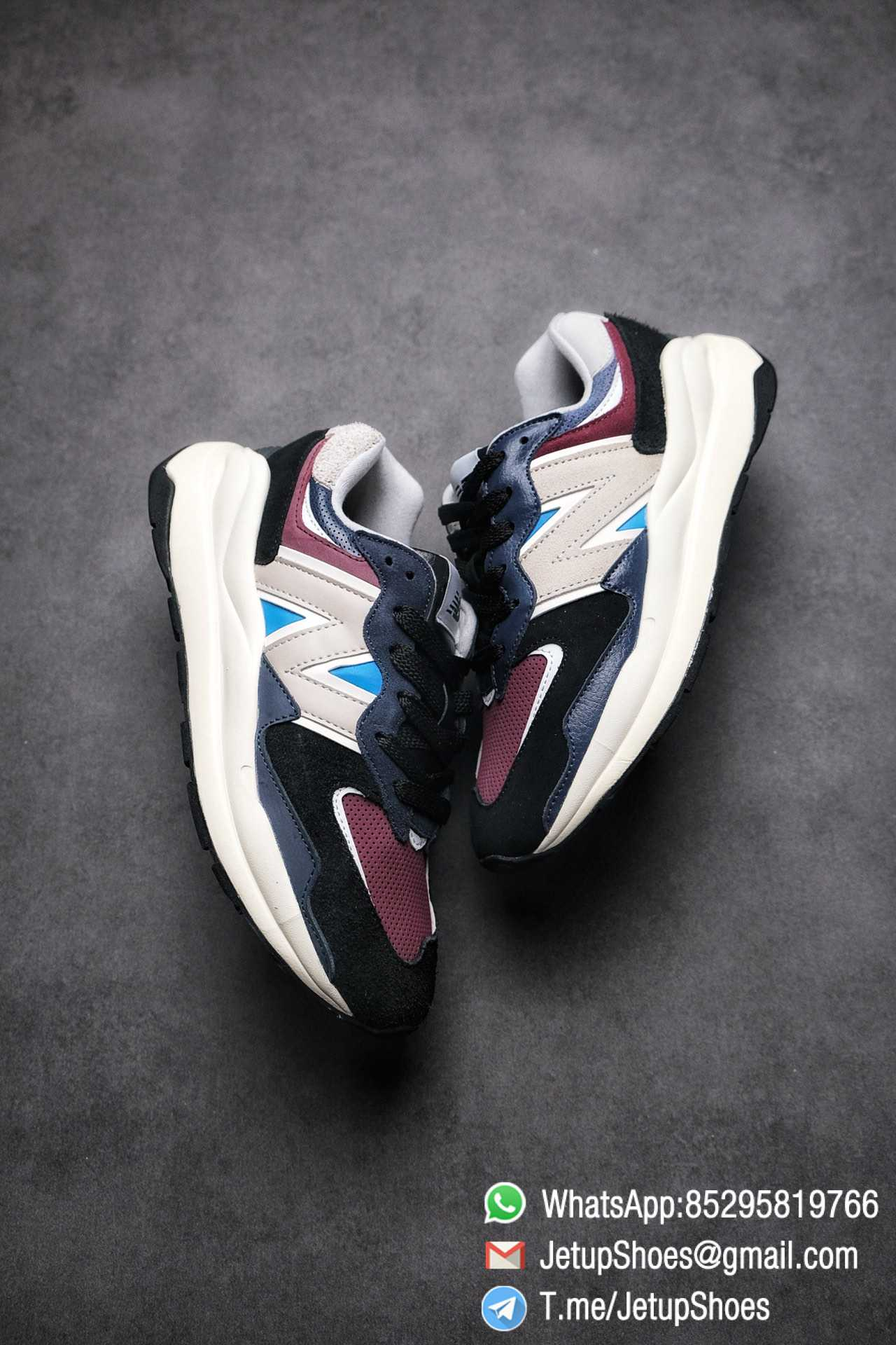 Best Replica New Balance 57 40 Navy Burgundy SKU M5740TB Navy And Burgundy Panels Appear Top Quality 03