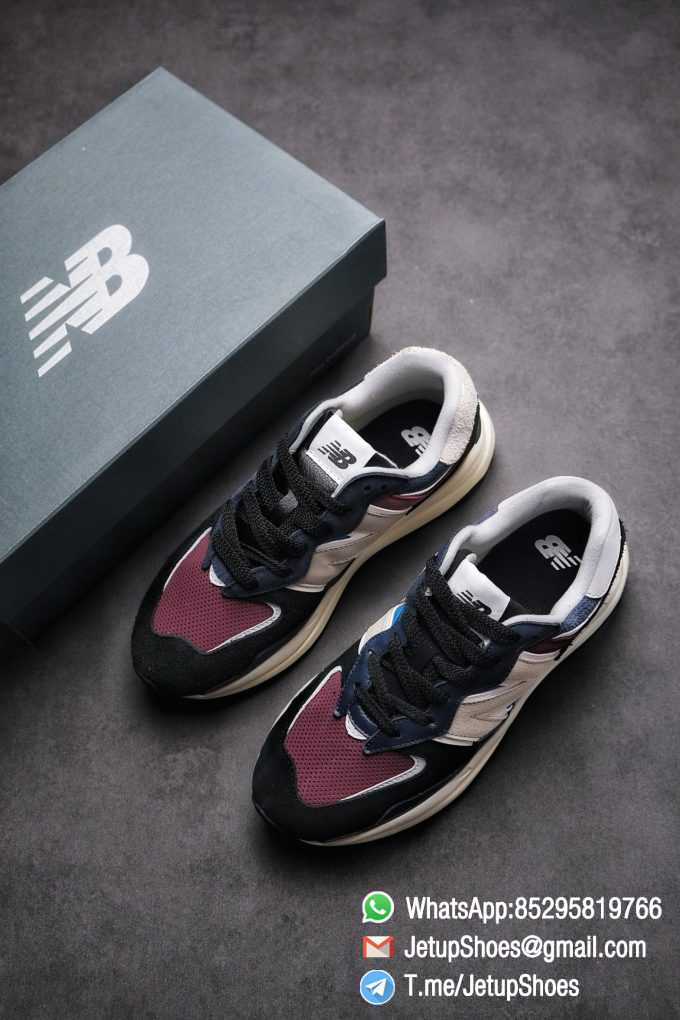 Best Replica New Balance 57 40 Navy Burgundy SKU M5740TB Navy And Burgundy Panels Appear Top Quality 04