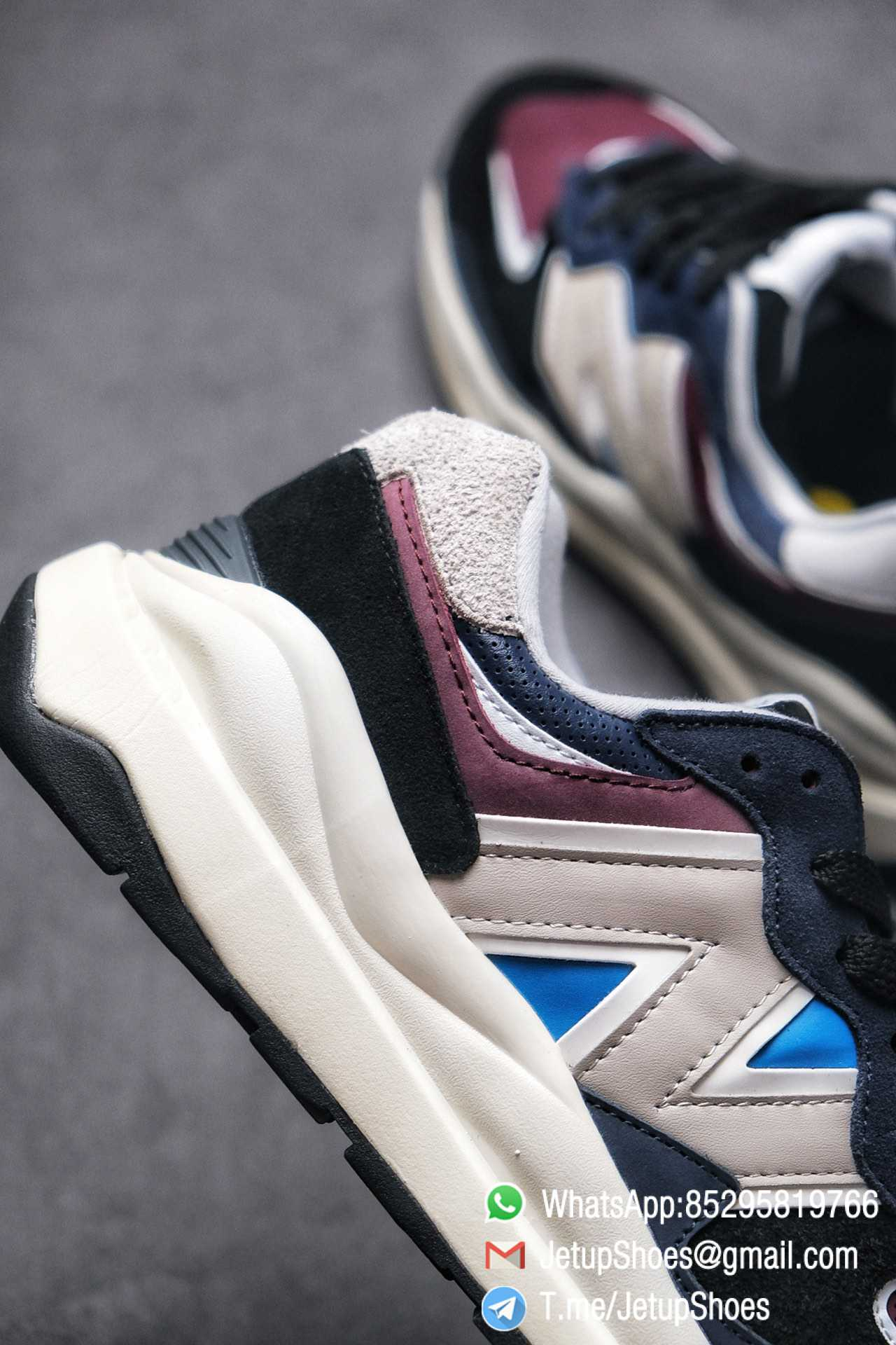 Best Replica New Balance 57 40 Navy Burgundy SKU M5740TB Navy And Burgundy Panels Appear Top Quality 05