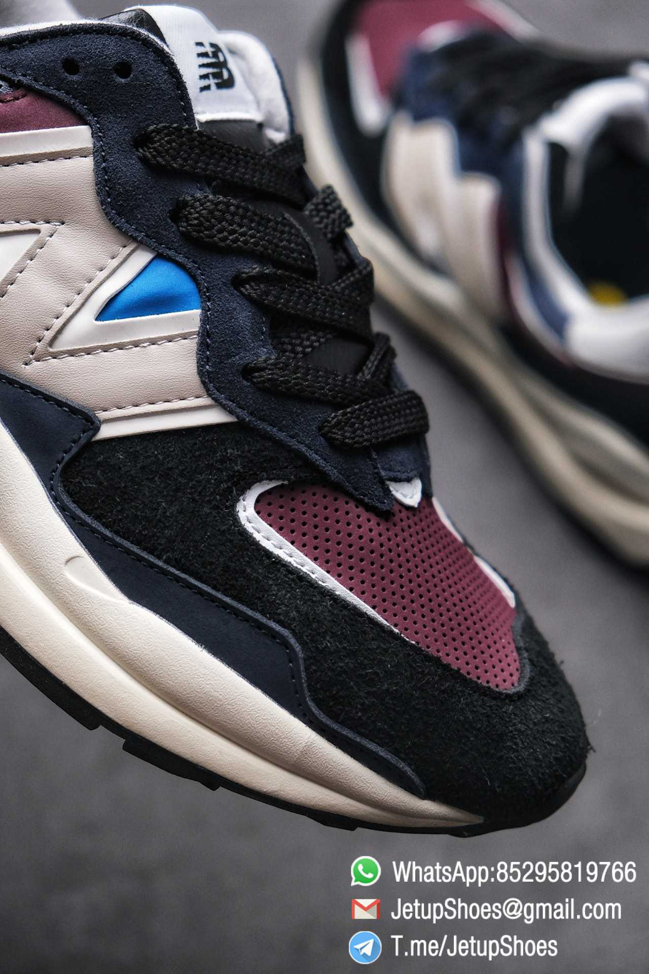 Best Replica New Balance 57 40 Navy Burgundy SKU M5740TB Navy And Burgundy Panels Appear Top Quality 06
