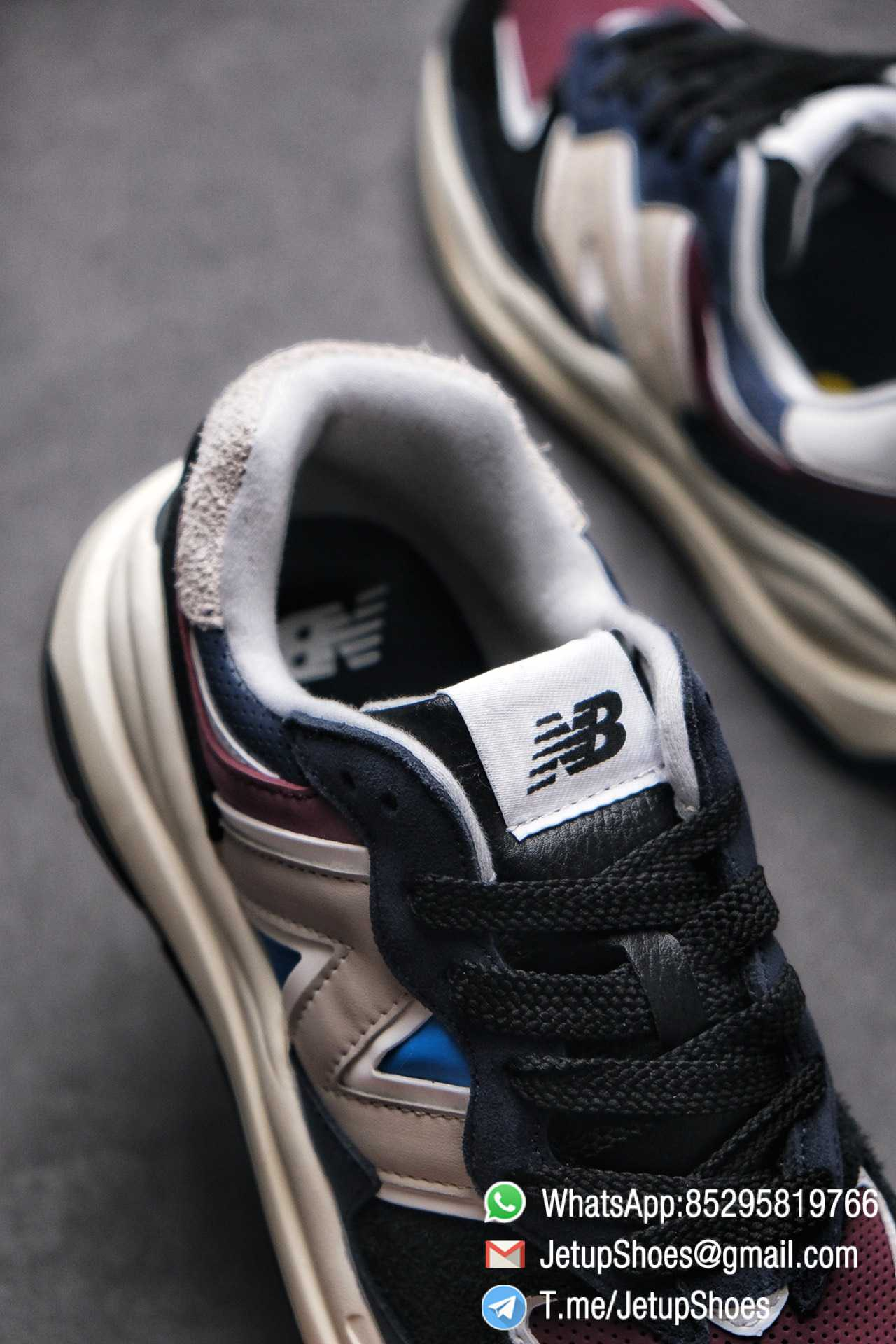 Best Replica New Balance 57 40 Navy Burgundy SKU M5740TB Navy And Burgundy Panels Appear Top Quality 07