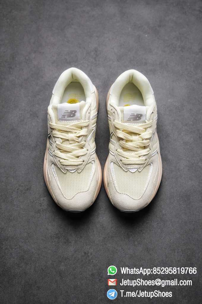 Best Replica New Balance 5740 Beige Cream SKU W5740CE Mesh Shell Suede Upper Big N Logo Pink Boot Top Quality Supplier 02