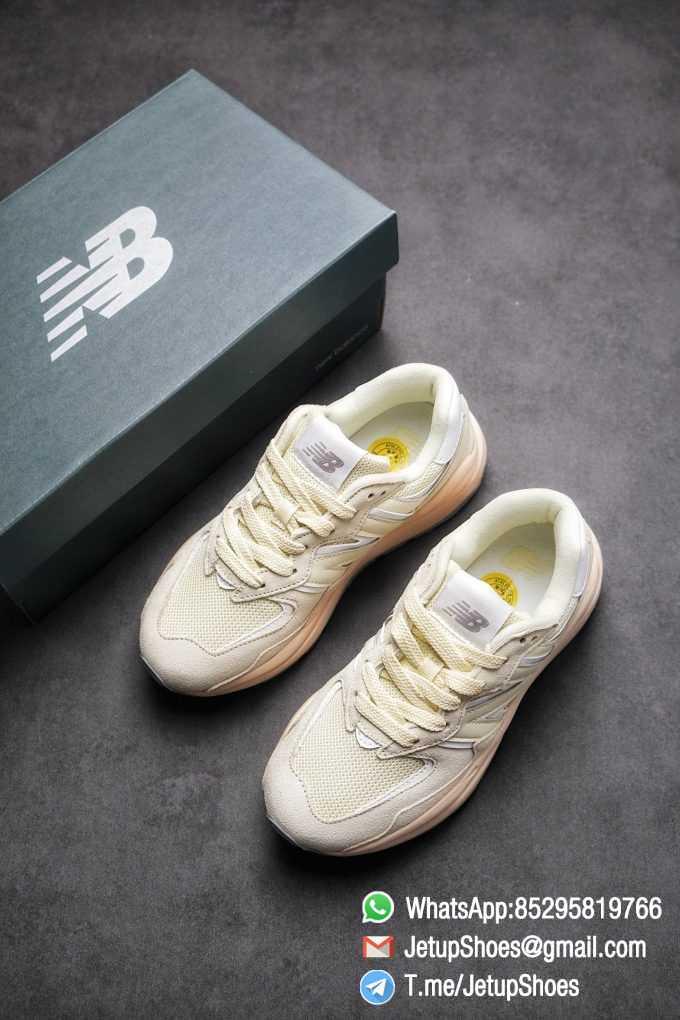 Best Replica New Balance 5740 Beige Cream SKU W5740CE Mesh Shell Suede Upper Big N Logo Pink Boot Top Quality Supplier 04